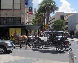 Carriage ride in downtown San Antonio